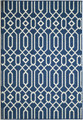 "ALHAMBRA INDOOR OUTDOOR  GEOMETRIC DESIGN RUG - NAVY BLUE - 3'11"" X 5'7"""