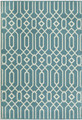 "ALHAMBRA INDOOR OUTDOOR GEOMETRIC DESIGN RUG - BLUE - 3'11"" X 5'7"""