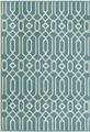 """ALHAMBRA INDOOR OUTDOOR GEOMETRIC DESIGN RUG - BLUE - 5'3"""" X 7'6"""""""