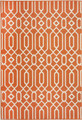 "ALHAMBRA INDOOR OUTDOOR GEOMETRIC DESIGN RUG - ORANGE - 3'11"" X 5'7"""