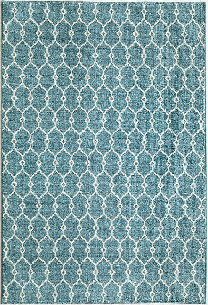 Marrakesh Indoor Outdoor Rug Blue 2 3 X 4 6 Geometric Design