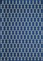 """MARRAKESH INDOOR OUTDOOR RUG - NAVY BLUE - GEOMETRIC DESIGN RUG - 3'11"""" X 5'7"""""""