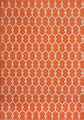 "MARRAKESH INDOOR OUTDOOR RUG - ORANGE - GEOMETRIC DESIGN RUG - 3'11"" X 5'7"""