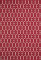 """MARRAKESH INDOOR OUTDOOR RUG - RED - GEOMETRIC DESIGN RUG - 5'3"""" X 7'6"""""""