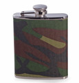 """CAMOUFLAGE"" STAINLESS STEEL FLASK - 6 OZ"