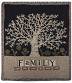 "FAMILY TREE TAPESTRY THROW BLANKET - 50"" X 60"" - TREE OF LIFE"