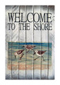 SIGNS & PLAQUES - SANDPIPER WOODEN WELCOME SIGN - COASTAL DECOR
