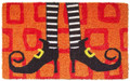 "DOOR MATS - WICKED WITCH COIR DOORMAT - 18"" X 30"" - HALLOWEEN DOOR MAT"