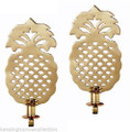 """WILLIAMSBURG"" PINEAPPLE SOLID BRASS WALL SCONCE PAIR - 10.5""H"