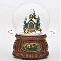 """SUNDAY CHURCH SERVICE"" REVOLVING MUSICAL SNOW GLOBE - SNOWGLOBE"