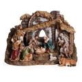 "CHRISTMAS DECORATIONS - ""HOLY NIGHT"" 10-PIECE NATIVITY SET"