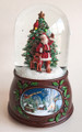 SANTA WITH FOREST FRIENDS MUSICAL SNOW GLOBE - FREE SHIPPING*