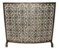 FIREPLACE SCREENS - BRIGHTON PAVILLION CURVED FIREPLACE SCREEN - BURNISHED GOLD