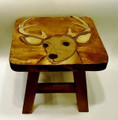 MAJESTIC DEER FOOTSTOOL