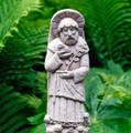 """""""PEACEFUL SAINT FRANCIS"""" STONE SCULPTURE - NATURAL STONE FINISH - FREE STANDING OR WALL MOUNTED FIGURINE"""