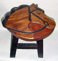 """STATELY STEED"" WOODEN FOOTSTOOL - EQUESTRIAN DECOR"
