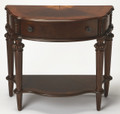 FAIRFIELD PARK INLAID DEMILUNE CONSOLE TABLE - SOFA TABLE - PLANTATION CHERRY FINISH - FREE SHIPPING*