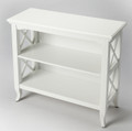 BURNBREIGH LOW BOOKCASE - BOOKSHELF - GLOSSY WHITE FINISH - FREE SHIPPING*