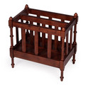"""WELLINGTON SQUARE"" WOODEN MAGAZINE RACK - ANTIQUE CHERRY FINISH - FREE SHIPPING*"
