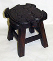 SEA TURTLE FOOTSTOOL - WOOD STAIN FINISH