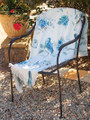 """L'OISEAU"" BIRD AND FLORAL THROW BLANKET - 50"" X 60"""
