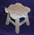 SEA TURTLE FOOTSTOOL - WHITE WASH FINISH