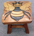 BUMBLEBEE WOODEN FOOTSTOOL - BEE FOOT STOOL