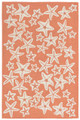 """SENSATIONAL STARFISH"" INDOOR OUTDOOR RUG - CORAL - 42"" x 66"""