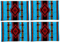 """ECHO CANYON"" TAPESTRY PLACE MATS - SET OF FOUR - FLAME DESIGN PLACEMATS"