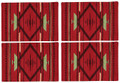 """OLD SANTA FE"" TAPESTRY PLACEMATS - SET OF FOUR - FLAME DESIGN PLACE MATS"