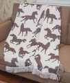 """RUN WILD, RUN FREE"" WILD HORSES THROW BLANKET - 48"" X 60"" - TAPESTRY HORSE THROW"