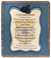 """A POLICEMANS PRAYER"" TAPESTRY THROW BLANKET - POLICE MEMORABILIA"
