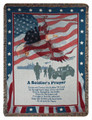 """A SOLDIERS PRAYER"" TAPESTRY THROW BLANKET - MILITARY - VETERANS"