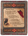 """ A FIREMANS PRAYER"" TAPESTRY THROW BLANKET - FIREFIGHTERS - FIREMEN"