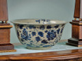 """SHANGHAI GARDEN"" BLUE & WHITE CHINESE PORCELAIN CENTERPIECE BOWL"