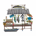 ISLAND FISH MARKET METAL WALL SCULPTURE - NAUTICAL DECOR