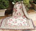 "COTTAGE ROSE TAPESTRY THROW BLANKET - 50"" X 60"""