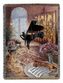 """THE MUSIC SALON"" TAPESTRY THROW BLANKET - 50"" X 60"""