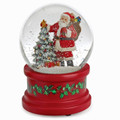 SANTA WITH CHRISTMAS TREE MUSICAL SNOW GLOBE - 100MM SNOWGLOBE