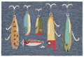 """GREAT LAKES"" FISHING LURES RUG - 24"" x 36"" - INDOOR OUTDOOR RUG"
