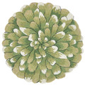GREEN CHRYSANTHEMUM INDOOR OUTDOOR ROUND RUG - 3' ROUND RUG