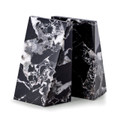 """ BOND STREET"" BLACK STRIATED MARBLE BOOKENDS"