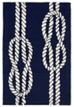 """NAUTICAL KNOTS"" INDOOR OUTDOOR RUG - 20"" x 30"" - NAVY"