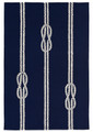 """NAUTICAL KNOTS"" INDOOR OUTDOOR RUG - 42"" x 66"" -  NAVY"