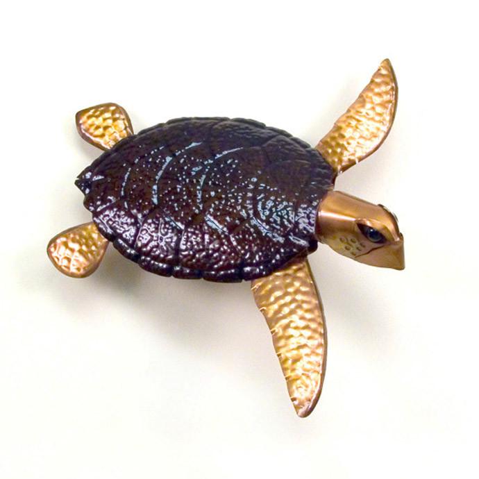 Sea Turtle Metal Wall Sculpture Nautical Decor