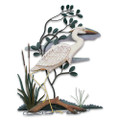 GREAT WHITE HERON WALL SCULPTURE - RIGHT FACING - COASTAL WALL ART