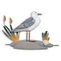 SEA GULL BY THE SHORE WALL SCULPTURE - COASTAL WALL DECOR