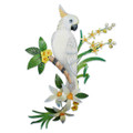 MAJESTIC COCKATOO WALL SCULPTURE - TROPICAL DECOR - ISLAND STYLE