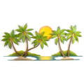 """TROPICAL SHORES"" PALM TREE WALL SCULPTURE - TROPICAL DECOR"