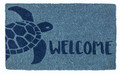 "SEA TURTLE COIR DOORMAT - 18"" X 30"" - NAUTICAL DECOR"